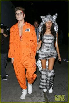 Madison Beer and Jack Gilinsky at Just Jared's Annual Halloween Party in Los Angeles! Most Popular Halloween Costumes, Trendy Halloween, Celebrity Halloween Costumes, Couple Halloween Costumes, Halloween Customs, Halloween Ideas, Halloween Men, Looks Party, Fantasias Halloween