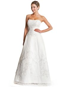 Style 8310 » Wedding Gowns » DaVinci Bridal » Available Colours : Ivory/Silver, Ivory/Ivory, White/Silver, White/White