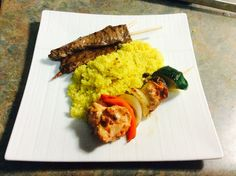 Beef and Chicken skewer with couscous