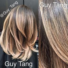 Shorter hair can have fun too! @Joy Katayama (Smith) #guytang #ombre #guy_tang using all @kenraprofessional color lightner on her! Enjoy! #balayage #Padgram
