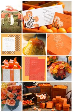 Orange #wedding inspiration. View more tips & ideas on our Facebook Page : https://www.facebook.com/BoutiqueBridalParty