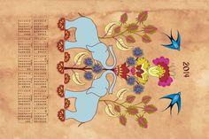 2014_Calendar fabric by weejock on Spoonflower - custom fabric