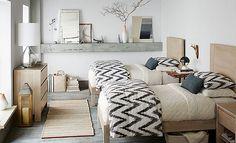 I love the West Elm New Scandinavian Guest Rooms on westelm.com/
