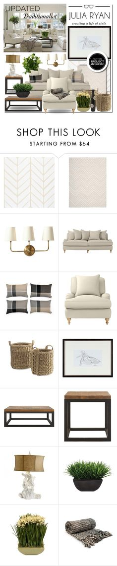 """""""#UpdatedTraditionalist With #PawleysIslandPosh And #Polyvore #ProjectDecorate"""" by rvgems ❤ liked on Polyvore featuring interior, interiors, interior design, home, home decor, interior decorating, VILA, Serena & Lily, Elvang and Williams-Sonoma"""