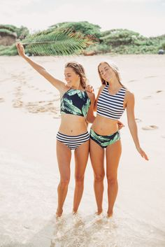NEW HIPSTER SWIM BOTTOM ARRIVALS!! they're slimming, accentuate those gorgeous flirty curves & pair well with any of our crop tops, peplum tankinis or switchback tops, including our {Laguna & Stripies 101} as pictured! | @albionfit