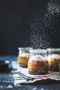 Maple Chestnut Pudding Chomeurs {gluten-free} – The Bojon Gourmet Mini Desserts, Dessert Recipes, Plated Desserts, Pudding Chomeur, Pudding Cake, Pudding Recipe, Gourmet Festival, Bojon Gourmet, Gourmet Foods