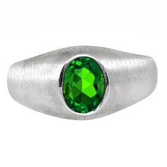 White Gold Pinky Ring For Men Oval-Cut Emerald Gemstone Gemologica.com offers a unique selection of mens gemstone and birthstone rings crafted in sterling silver and 10K, 14K and 18K yellow, white and rose gold. We have cool styles including wedding and engagement rings, fashion rings, designer rings, simple stone and promise rings. Our complete jewelry collection of gemstone rings for men can be seen here: www.gemologica.com/mens-gemstone-rings-c-28_46_64.html