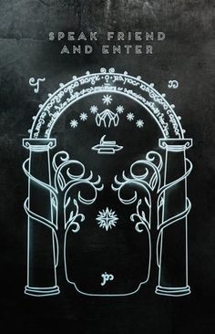 If your a hobbit, you'll know the password anyway. Lord Of Rings, Lord Of The Rings Tattoo, Fellowship Of The Ring, Hobbit Tolkien, O Hobbit, Hobbit Art, Mines Of Moria, 1366x768 Wallpaper, Gandalf