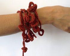 Red wine Cotton...............Necklace / Bracelet by AnnaLela