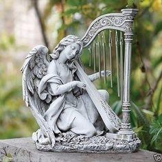 Clavicordio-Instrumento-de-Cuerda-para-arpa-windchine-cristianismo-Angeles-Decoracion-De-Jardin
