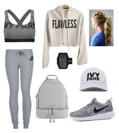 """#women #sport #fashion"" by lolml on Polyvore featuring moda, NIKE, Ivy Park y MICHAEL Michael Kors"