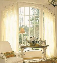 Window Coverings for Arched Windows | LILY HODGSON DESIGN