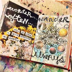 """WONDER OFTEN...WANDER ALWAYS."" ""Life is either a great adventure or nothing."" - Helen Keller {Jenndalyn Art}"