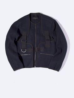 Para Strap Zip Up Jacket: