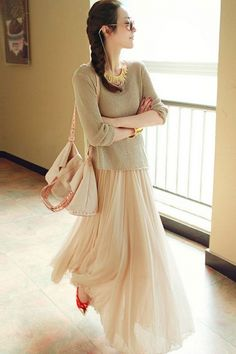 Charming Solid Color Paneled Mesh Matching Set