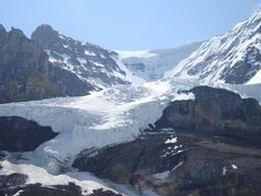 Athabasca Glacier. Better than just seeing it, I got to go out on it!