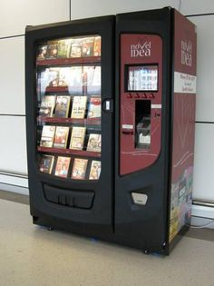 Book Vending Machine. There need to be more of these. Novel Idea is what I was going to call my used bookstore!