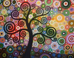 Amy Giacomelli painting print ... Tree of Wishes -- Signed 8 x 10 Glossy Print