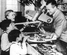 Reginald Denny at his Hobby Shop, Hollywood Boulevard
