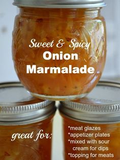 Sweet and Spicy Canned Onion Marmalade – An Oregon Cottage