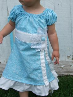 super cute dress. love the blue and white, so clean and fresh