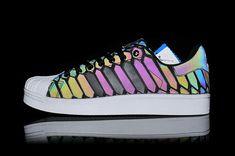 Iridescent Adidas Superstar 3m Xeno Snake Reflective Shoes