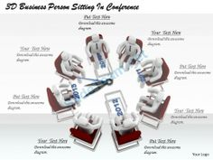 1813 3D Business Person Sitting in Conference Ppt Graphics Icons Powerpoint #Powerpoint #Templates #Infographics