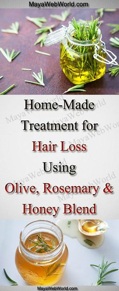 Home-Made Treatment for Hair Loss Using Olive, Rosemary and Honey Blend – MayaWebWorld