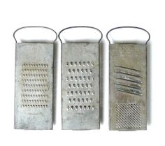 Vintage Trio of Graters by marybethhale on Etsy, $18.00