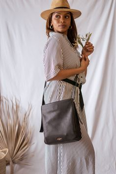 The Carla bag is a practical daily bag which is simple and sophisticated enough to take out in the night. Comfort and style is the name of the game when it comes to the Carla bag. Designer Leather Handbags, International Brands, Slow Fashion, Leather Wallet, Fashion Backpack, Game, Elegant, Night, Simple
