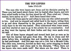 The Ten Lepers (Jesus Healing Story) - Kids Korner - BibleWise