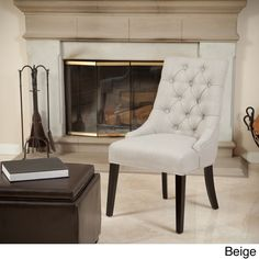 Christopher Knight Home Katrina Tufted Linen Dining Chair - Overstock™ Shopping - Great Deals on Christopher Knight Home Dining Chairs