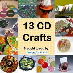 Whether you're cleaning out your music collection or looking for ways to reuse those old computer discs, these 13 CD Crafts will help you find new and fun ways to reuse and recycle your CD's. Cd Case Crafts, Old Cd Crafts, Upcycled Crafts, Crafts To Make, Fun Crafts, Crafts For Kids, Arts And Crafts, Repurposed, Cd Recycle