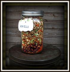 Jar Meals, pre-prepared and easy to store for a length of time. Great for college and university students too!!
