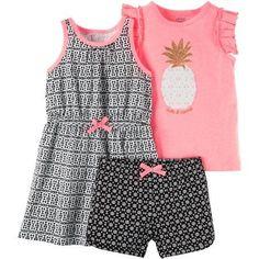 803e7ddf191c8 Child of Mine by Carter's - Child Of Mine Toddler Girl 3pc Playwear -  Walmart.com