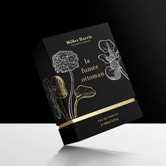 Progress Packaging Miller Harris Boxes Luxury Fashion Textures Papers Foiling Embossing Black Gold