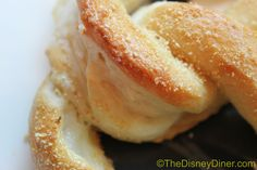 The BEST pretzel ever! Sweet cream cheese filled from Disney World. I've made these, delicious! I put cinnamon sugar on mine, even better.