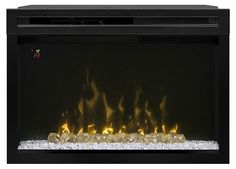 """Dimplex 33"""" Multi-Fire XD Electric Firebox with Glass Media Bed   seattleluxe.com"""