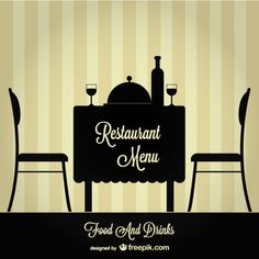 Restaurant table and chairs silhouettes . Vegetable Entrees, Wonder Woman Superhero, Book Restaurant, Restaurants, Restaurant Tables And Chairs, Branding, Vector Photo, Menu Design, Free Illustrations