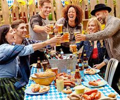 How to Throw an Oktoberfest Party at Home | Rachael Ray Every Day Cookout Menu, Dinner Party Menu, Tailgate Parties, Oktoberfest Party, Beer Cheese Sauce, Cheese Food, Beer Pairing, Getting Hungry, Soft Pretzels