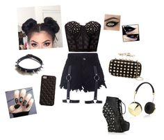 """""""Punk Princess 2"""" by the-ravenclaw-princes ❤ liked on Polyvore featuring Bettie Page, Frends, Natasha Accessories, 2Me Style and WithChic"""