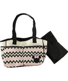 Amazon.com: Disney Minnie Mouse Chevron 4 Poster Beige Diaper Bag, Style N* Db30127: Baby