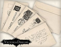 Shabby Chic Postcard Envelopes Envelopes by VectoriaDesigns  https://www.etsy.com/listing/121052237/shabby-chic-postcard-envelopes-envelopes?ref=shop_home_active_13