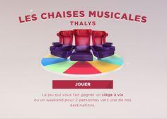 Thalys — Les Chaises Musicales #Concours #Evenement