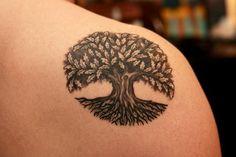 Celtic Tree Of Life Tattoo On Shoulder Back