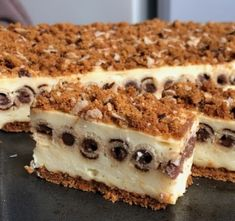 Pudingos szelet kakaókrémes ostyarudacskával - Ez Szuper Hungarian Recipes, Dessert For Dinner, No Bake Cake, Sweet Tooth, Cheesecake, Dessert Recipes, Food And Drink, Sweets, Baking