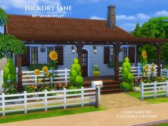 Sims 4 Updates: TSR - Houses and Lots, Residential Lots : Hickory Lane house by sharon337, Custom Content Download!