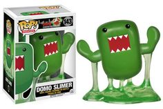 Everyone's favorite mascot, Domo, is re-imaged as the iconic green Slimer, and only cuteness ensues from there!This adorable Ghostbusters Slimer Domo Pop! Vinyl Figure stands 3 tall floating in his oozing green slime. Funko Pop Figures, Vinyl Figures, Action Figures, Anime Figures, Vinyl Toys, Funko Pop Vinyl, The Ghostbusters, Die Geisterjäger, Pokemon