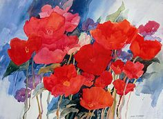 Poppy Potpourri- Joan McKasson- I have this print.  It is absolutely beautiful.  The colors are so vibrant!