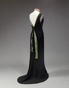 Dress, Dinner  Elsa Schiaparelli  (Italian, 1890–1973)  Date: 1934 Culture: French Medium: silk Dimensions: [no dimensions available] Credit Line: Gift of Miss Irene Lewisohn and Mrs. Alice Lewisohn Crowley, 1946